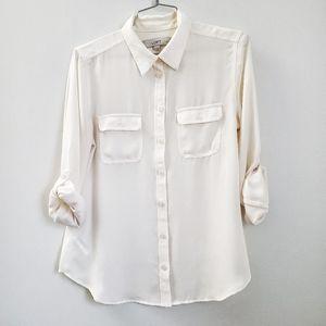 LOFT Tops - Ivory blouse   Loft petite